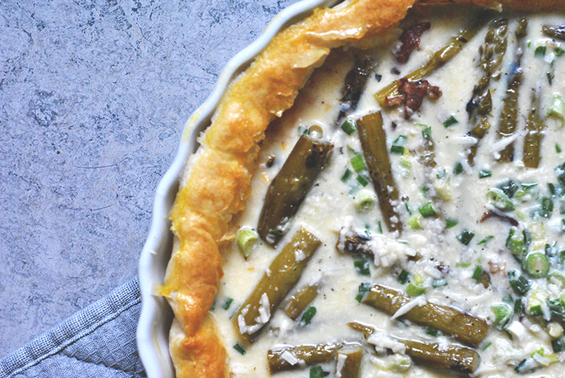 Asparagus tart uncooked