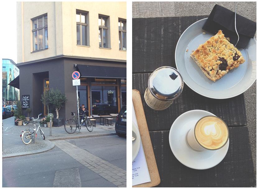 Outside Apple Crumble - Oliv Cafe